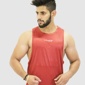 Cherry Color Gym Sleeveless